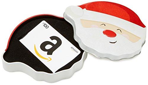 Amazon.com $100 Gift Card in a Santa Smile Tin