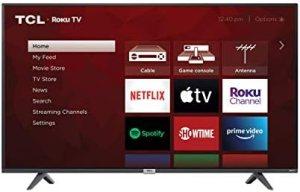 TCL 65-inch Class 4-Series 4K UHD HDR Smart Roku TV – 65S435, 2021 Model