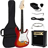 Best Choice Products 39in Full Size Beginner Electric Guitar Starter Kit with Case, Strap, 10W Amp, Strings, Pick, Tremolo Bar (Sunburst)