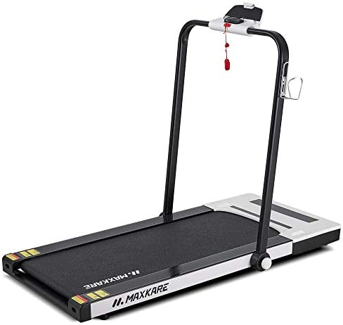 MaxKare Folding Treadmill 2 in 1 Running & Walking Treadmill Electric Treadmill Running Machine with 2.2HP Motor Remote Control & Large LCD Display for Home Office Use 1