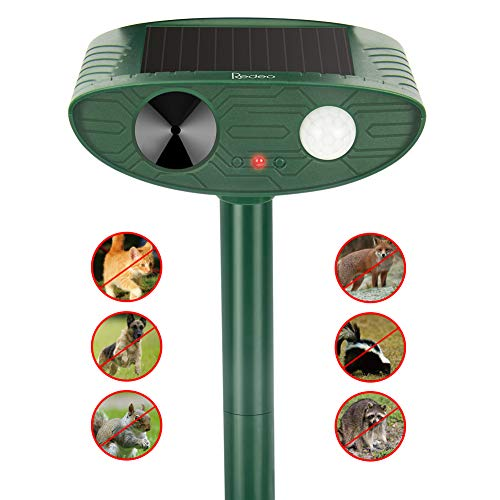 Redeo Ultrasonic Animal Repeller Outdoor Solar Powered with Motion Sensor Cat Dog Deer Bird Repellent Control Garden Chaser