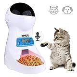 Iseebiz Automatic Cat Feeder 3L Pet Food Dispenser Feeder for Medium & Large Cat Dog--4 Meal, Voice Recorder & Timer Programmable, Portion Control