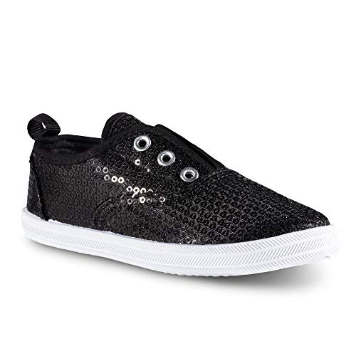 Chillipop Slip-On Laceless Fashion Sneakers for Girls, Boys, Toddlers & Kids Black