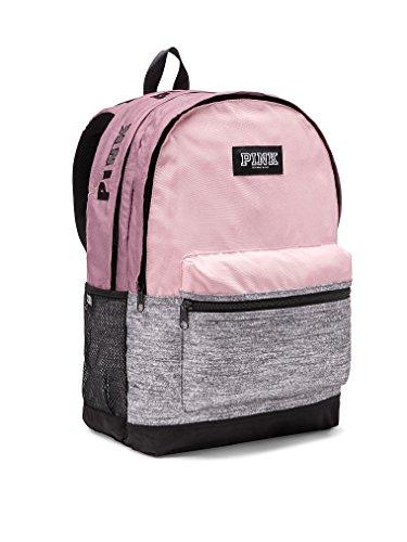 Victoria's Secret Pink Campus Backpack Chalk Rose Black Logos