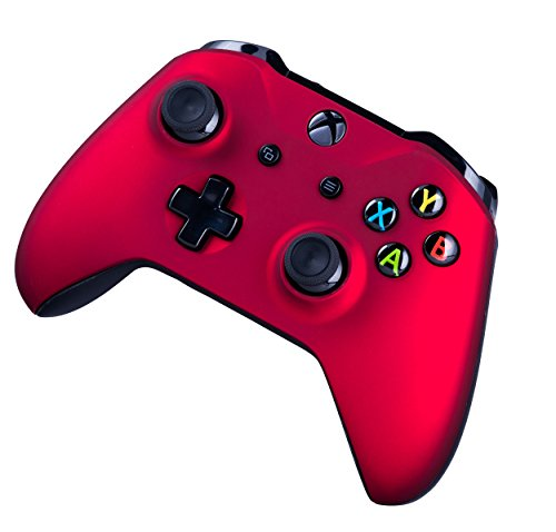 41mU3S8pCeL - Xbox One S Wireless Controller for Microsoft Xbox One - Soft Touch Red X1 - Added Grip for Long Gaming Sessions - Multiple Colors Available