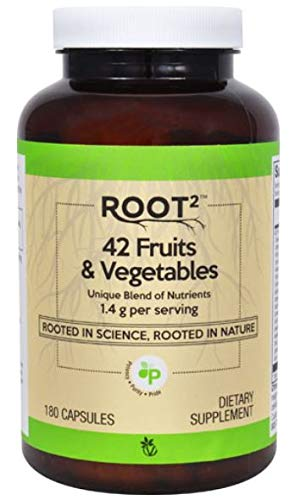 Vitacost ROOT2 42 Fruits and Vegetables 1.4 Gram Per Serving - 180 Capsules