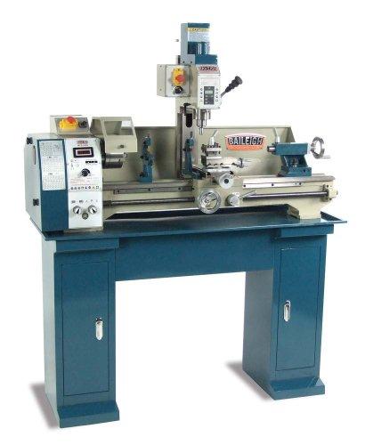 Baileigh MLD-1030 Mill Drill Lathe, 120V, 8-56 TPI Thread, 50-2000 rpm Variable Speed