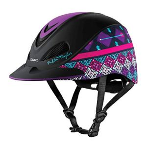 Fallon Taylor TROXEL Purple GEO Horse Riding Helmet Low Profile Adjustable