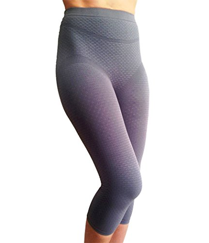 Bioflect® FIR Therapy Anti Cellulite Micromassage Compression Capri Pants for Lymphedema & Lipedema Support (XL)
