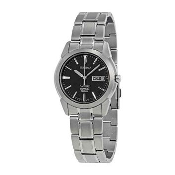 Seiko Men's SGG731 Titanium Silver Dial Watch