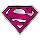 C&D Visionary DC Comics Superman Super Girl Logo Glitter Sticker