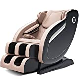 3D Rollers Robot Hands SL Track Massage Chair Recliner with Bluetooth Full-Body Airbag Massage Assembled(Beige)