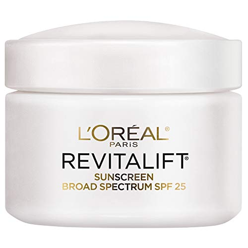 Face Moisturizer with SPF 25 by L'Oréal Paris Skin Care, Revitalift Anti-Aging Day Cream with SPF 25 Sunscreen and Pro-Retinol, Paraben Free, Suitable for Sensitive Skin, 2.55 oz