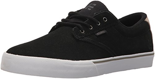 Etnies Men's Jameson Vulc Skate Shoe, Black/White/Silver, 11 Medium US