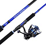 KastKing Centron Spinning Reel - Fishing Rod Combos, Toray IM6 Graphite 2Pc Blanks, Stainless Steel Guides (8'0' Heavy-Full Handle,5000 Reel)
