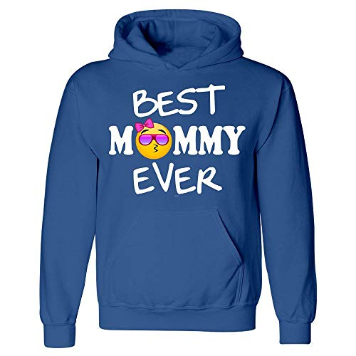 Best Mommy Ever Gift Funny Emojicon for Mothers Day - Hoodie Royal Blue