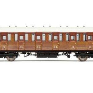 Hornby R4516B LNER Gresley Non-vestibuled Suburban 3rd Class Coach Teak 41mwhwa1chL