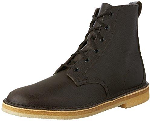 CLARKS Desert Mali Boot - Men's Charcoal Leather, 8.0