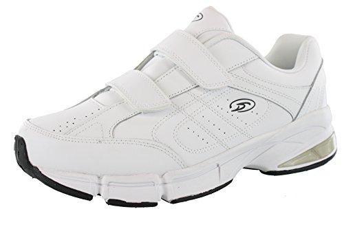 Dr.Scholls Men's Omega Light Weight Dual Strap Sneaker Wide Width (11 2E US, White)
