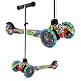 WeSkate Scooter for Kids Toddlers 3 LED Wheels Lightweight- Mini Kick Scooters Adjustable Scooters for Boys Girls Little Kids Age 3-10