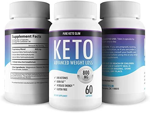 Pure Keto Slim - Keto Diet Pills - Exogenous Ketones Help Burn Fat - Weight Loss Supplement to Burn Fat - Boost Energy and Metabolism - 60 Capsules 11
