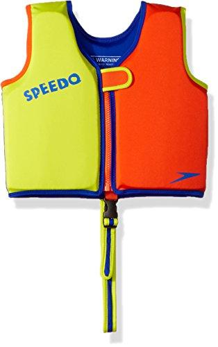 Speedo Kids UPF 50+ Begin to Swim Classic Swim Vest, Lime/Orange, Medium
