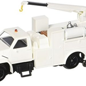 Bachmann Industries Maintenance of Way Hi Rail Equipment Truck with Crane DCC Equipped Painted Unlettered Train, White, HO Scale 41n4xQ8xZwL