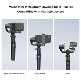 MOZA-Mini-P-Smartphone-Gimbal-Stabilizer-Foldable-3-Axis-for-Mirrorless-Cameras-Action-Cameras-Compatible-with-Sony-a6300a6600-A7R3-RX100-III-Gopro-8765-DJI-Osmo