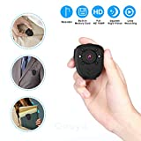 Body Camera Mini Spy Camera Hidden Camera Nanny Cam Portable Camera 1080P Wearable Camera Battery Powered Mini Sports Camera Worn Camera with Night Vision/Loop Recording Cop Cam, Built-in 16G TF Card
