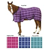 Product review for EQ EZ-Care Stable Sheet Plaid 81 Turquoise Plaid