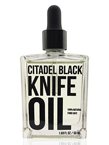 100% Natural Food Grade Knife and Blade Maintenance Oil, 1.69oz by Citadel Black