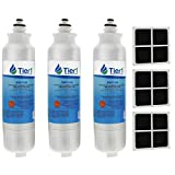 Tier1 Replacement for LG LT800P, ADQ73613401, Kenmore 9490 Refrigerator Filter 3-Pack and LT120F Comparable Fresh Air Refrigerator Filter 3-Pack Combo