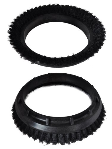 Oreck 2 Pack of Genuine OEM Replacement Black Orbiter Shampoo Brushes # 237-049-2PK