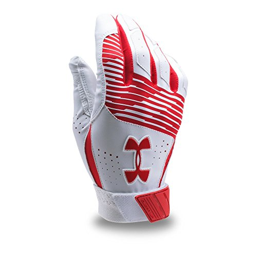 Under Armour Men's Clean Up Baseball Batting Gloves, Red (600)/Red, Large