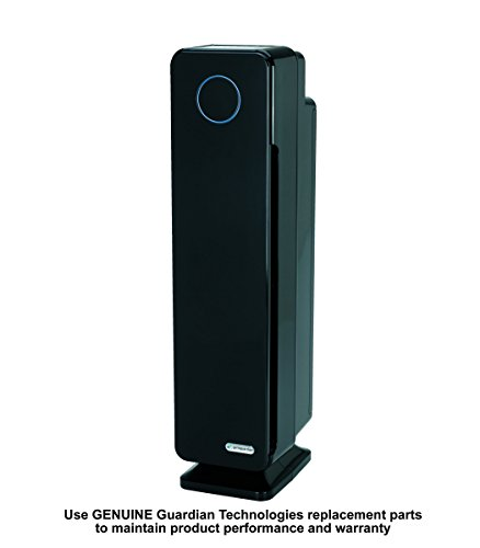 Germ Guardian Air Purifier for Large Rooms, True HEPA Filter for Allergies, Pollen, Smoke, Dust, Pet Dander, UVC Sanitizer Eliminates Germs, Mold, Odors, Quiet for Home, Bedrooms, 28' 4-in-1 AC5350B