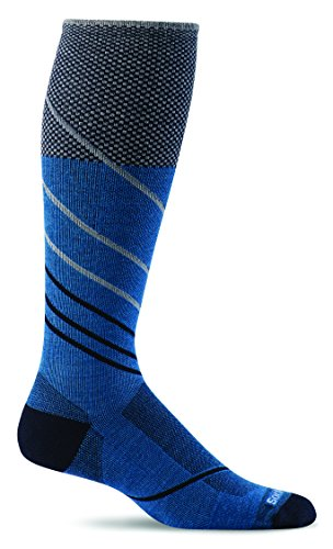 Sockwell Men's Pulse Firm Graduated Compression Socks, Ocean, Large/X-Large