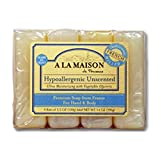 A La Maison French Hypoallergenic Unscented Bar Soap Value...
