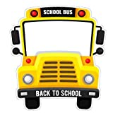 VictoryStore Photo Booth Frame Back to School Selfie Frame 1st Day of School Bus Photo Prop 35 Inches by 38 Inches