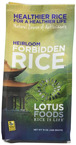 Lotus Foods Heirloom Forbidden Rice, 15-Ounce (Pack of 6)