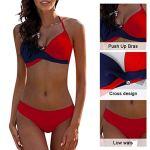 UMIPUBO Costumi da Bagno Donna Push Up Imbottito Reggiseno Costumi da Mare Moda Due Pezzi Collo Appeso Bikini Spiaggia…