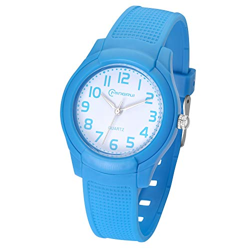 Kids Watch,Child Girls Boys Analog Waterproof Learning Time Wrist Watch Easy to Read Time WristWatches for Kids as Gift (Blue)