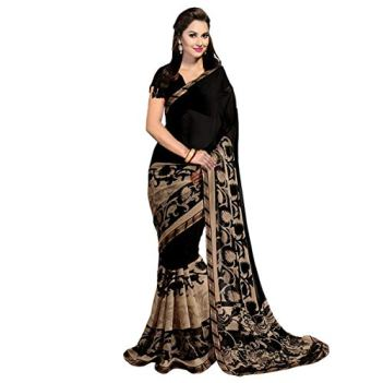 Anni-Designer-Georgette-Saree-with-Blouse-Piece-Black-GerogBlackFree-Size