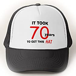 Funny 70th Birthday Gag Gifts Hat For Men Adult