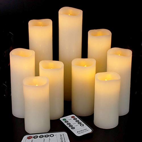Antizer Flameless Candles Led Candles Pack of 9 (H 4