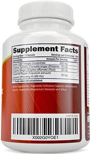 Apple Cider Vinegar Capsules, - 180 Vegan ACV Capsules, High Strength Apple Cider Vinegar Pills, Purely Holistic 4