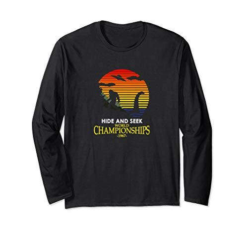 Hide and Seek World Championship Nessie VS Yeti Bigfoot Long Sleeve T-Shirt