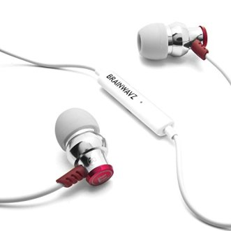 Brainwavz Delta Silver IEM In Ear Earbuds Noise Isolating Earphones Remote Headset Apple iPhone & Android