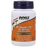 NOW Supplements, Probiotic-10TM, 50 Billion, with 10 Probiotic Strains, Strain Verified, 50 Veg Capsules