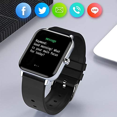 Smart Watch for Android and iOS Phones, AOKEY Fitness Tracker Watch for Men Women, Heart Rate and Sleep Monitor, Pedometer, IP68 Waterproof Activity Tracker (Black) 4