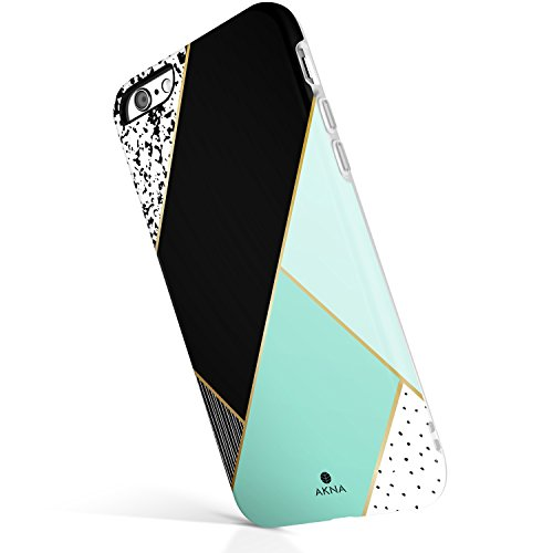iPhone 6 6s case for Girls, Akna New Glamour Series [All Flexible Soft TPU Cover with Fabulous Glossy Pattern for Both iPhone 6 & iPhone 6s(4.7' iPhone) [Mint Green Composition](U.S)